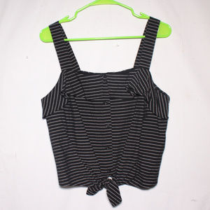 NWT Lush Striped Tie Knot Striped Button Tank Top